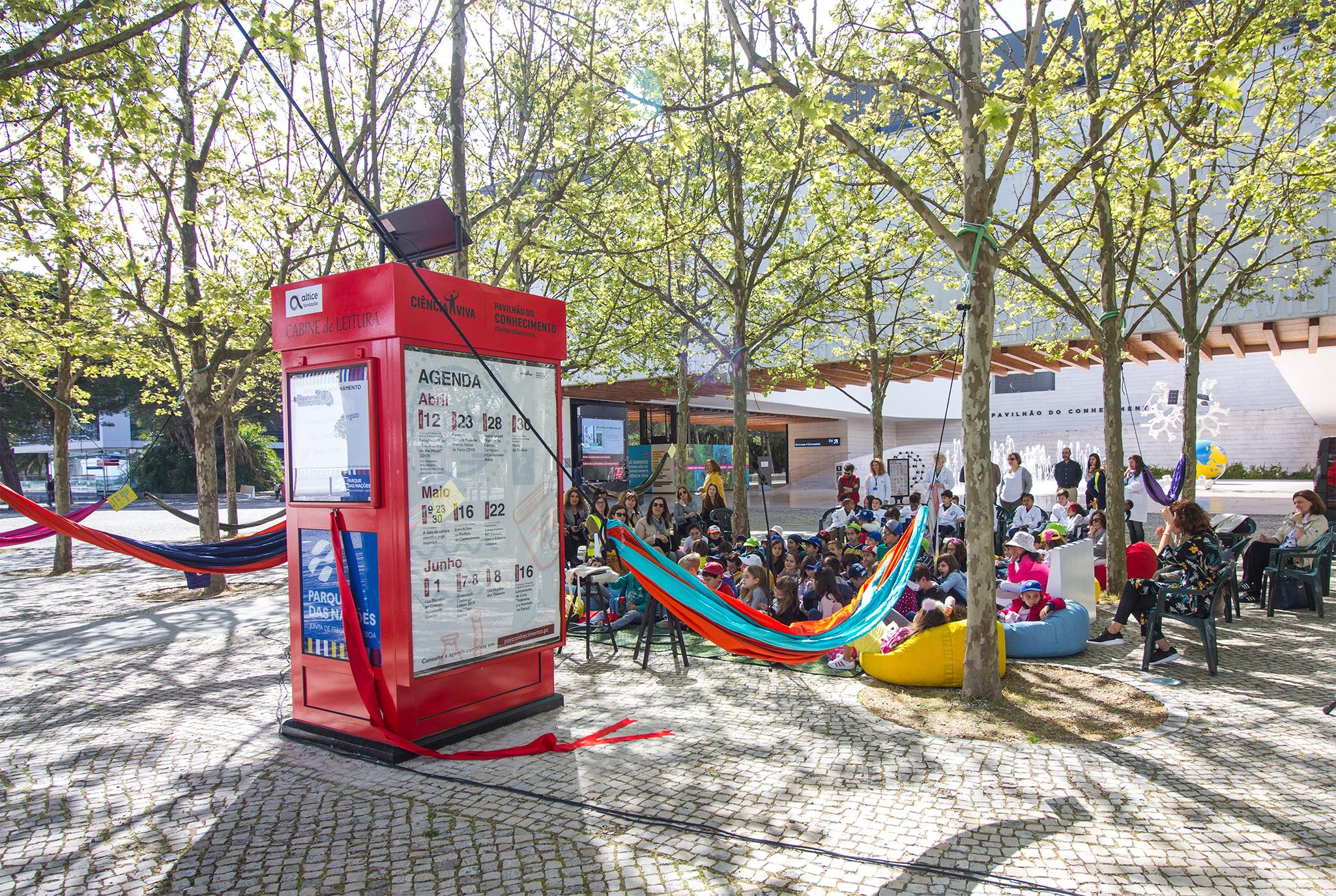 cabine de leitura - pavilhão