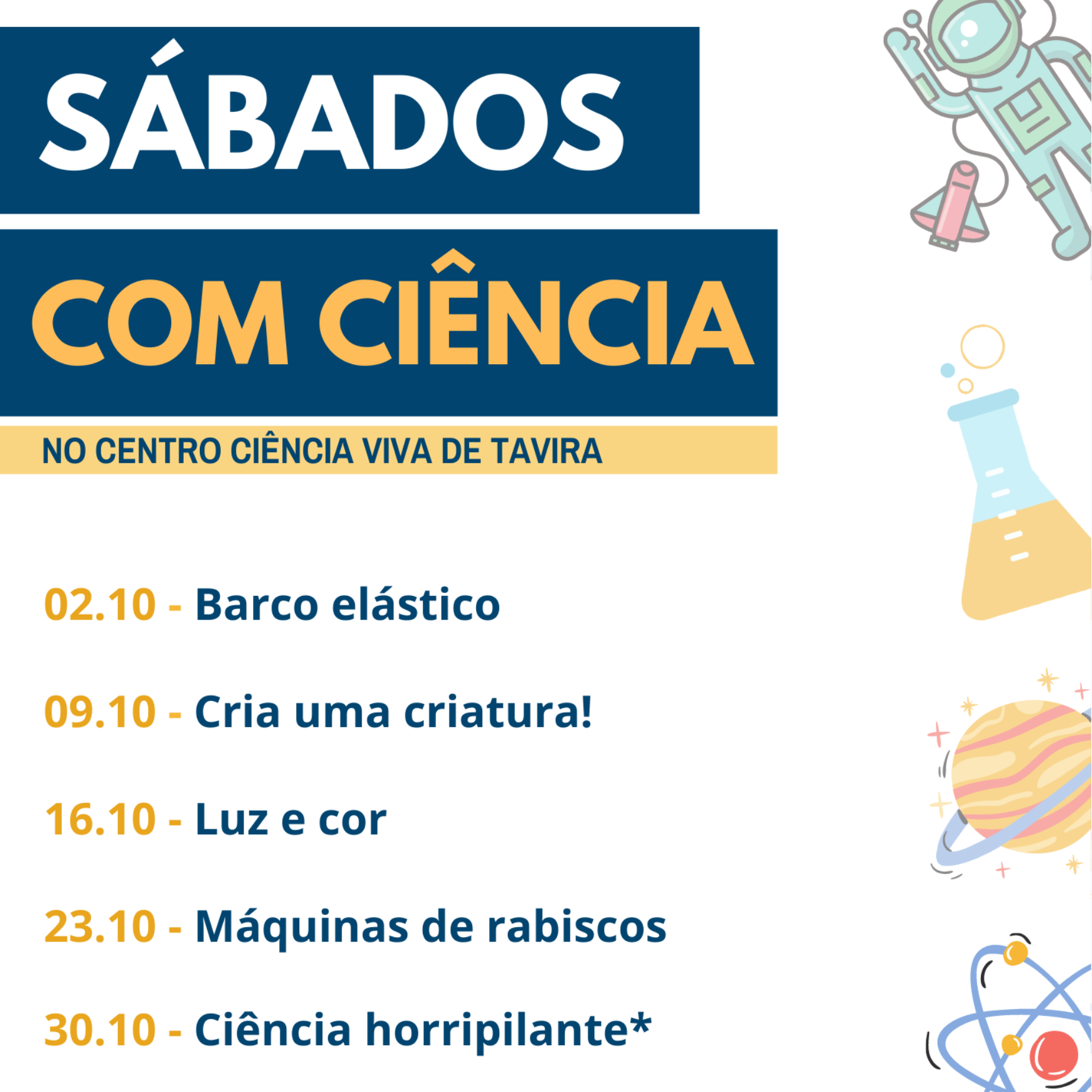 Sábados com Ciência - Outubro 2021