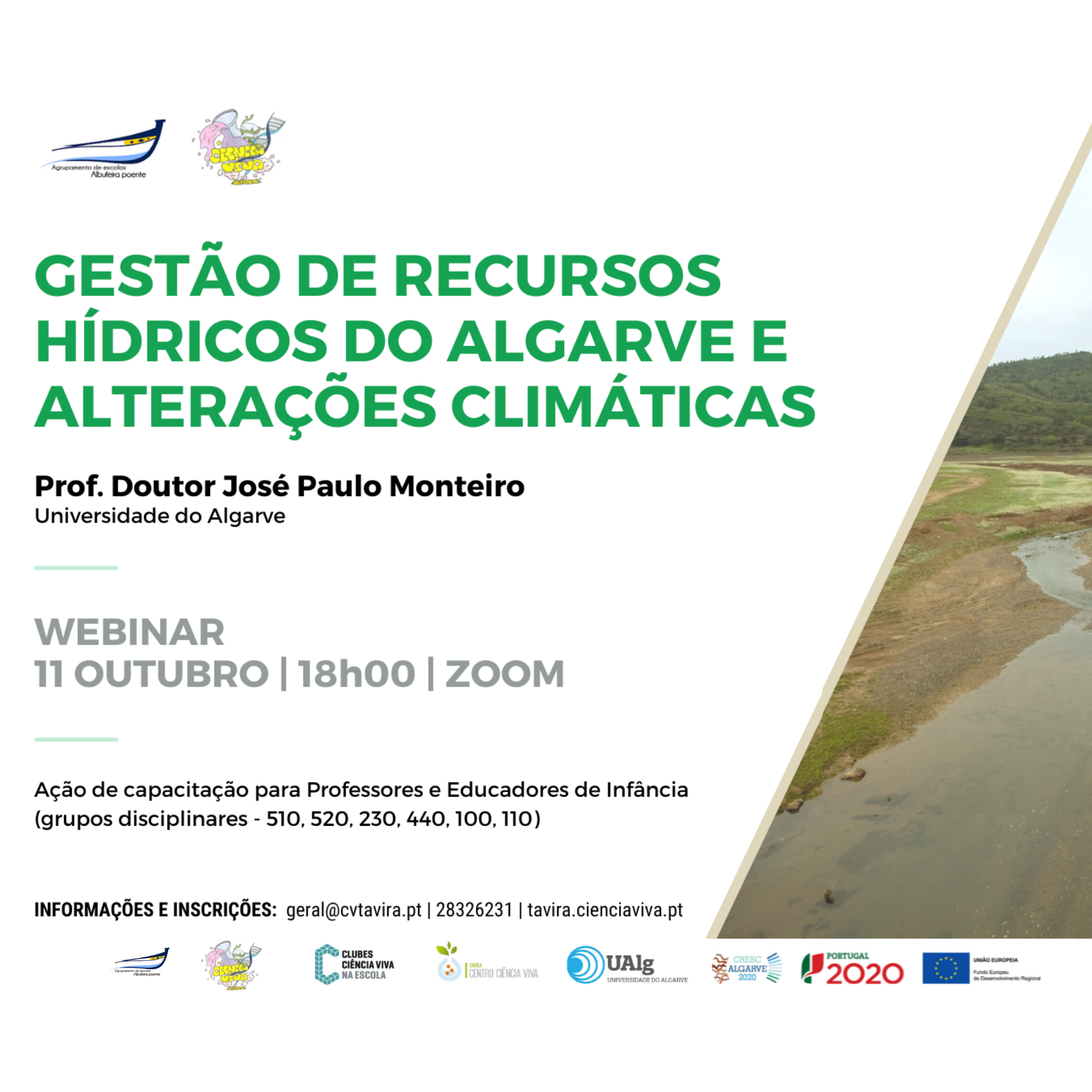 WEBINAR - Recursos hídricos do Algarve & Alterações climáticas