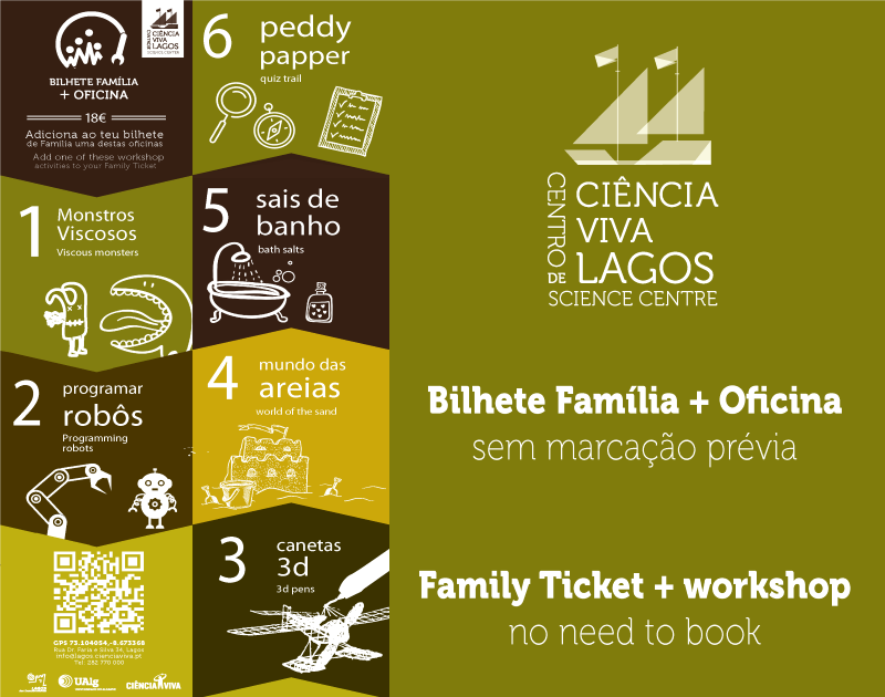 Bilhete Família + Oficina